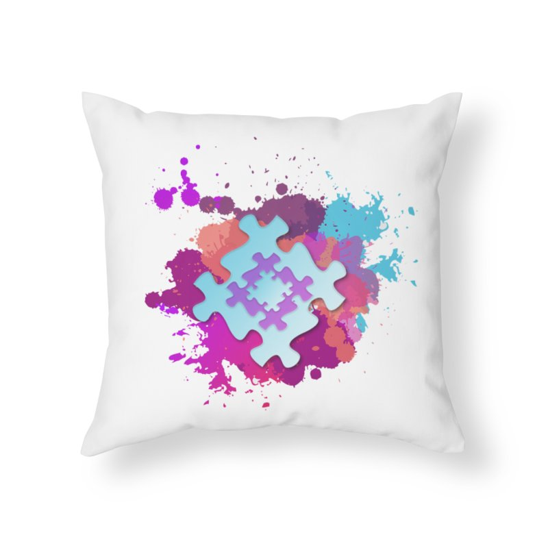 Splash Home Throw Pillow by Coachella Valley Autism Society of America