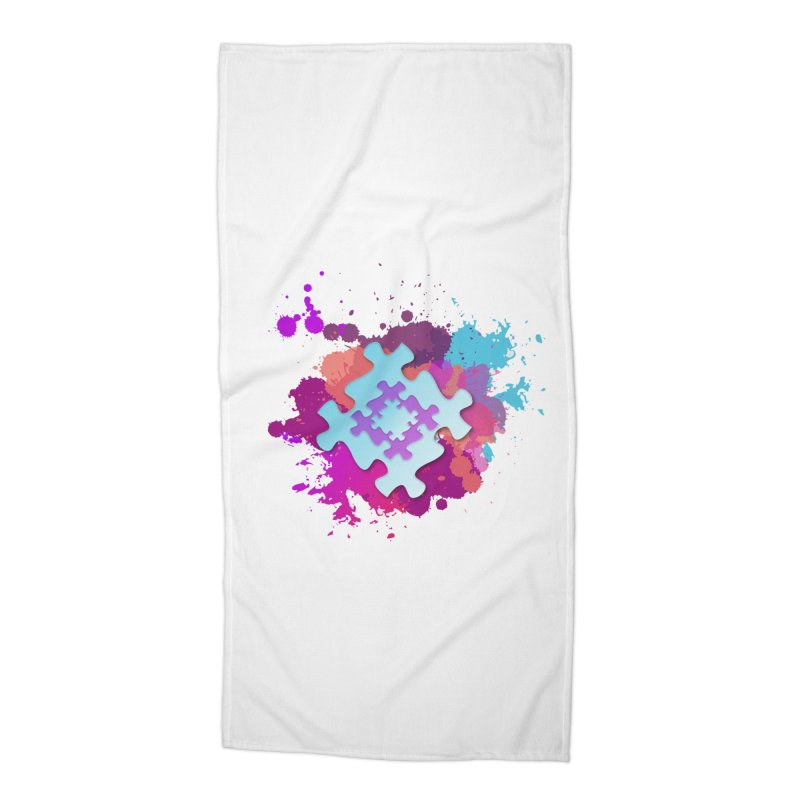 Splash Accessories Beach Towel by Coachella Valley Autism Society of America