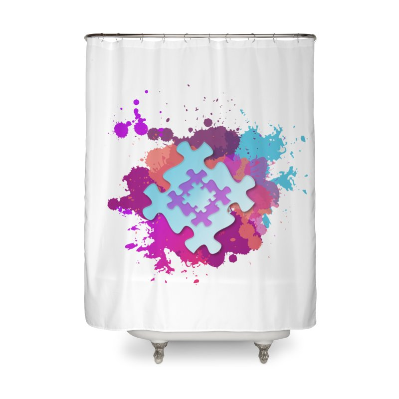 Splash Home Shower Curtain by Coachella Valley Autism Society of America