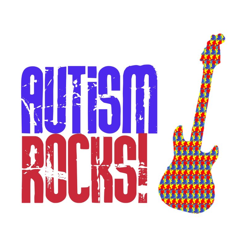 Autism Rocks Men's T-Shirt by Coachella Valley Autism Society of America