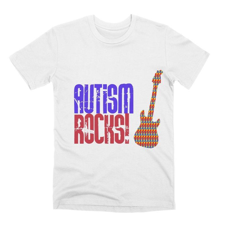 Autism Rocks Men's T-Shirt by Coachella Valley Autism Society of America