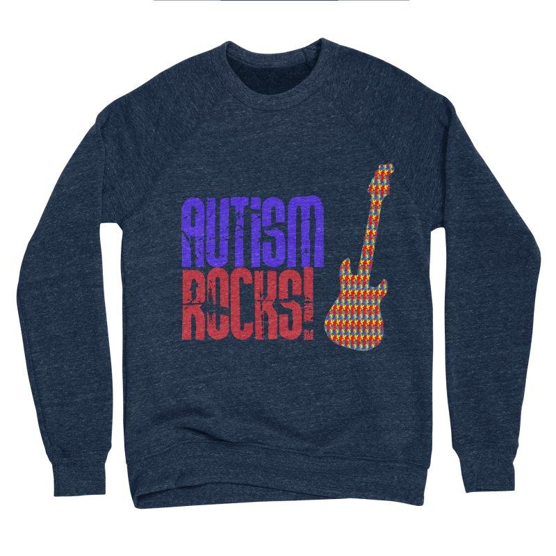 Autism Rocks Men's Sponge Fleece Sweatshirt by Coachella Valley Autism Society of America