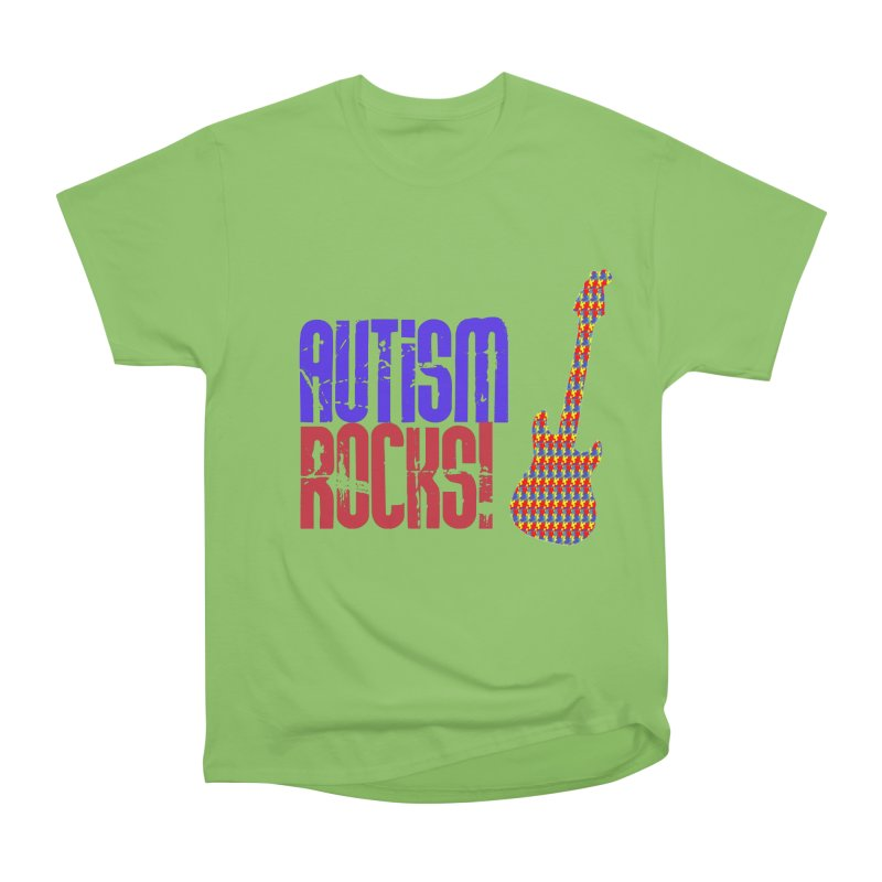 Autism Rocks Men's Heavyweight T-Shirt by Coachella Valley Autism Society of America