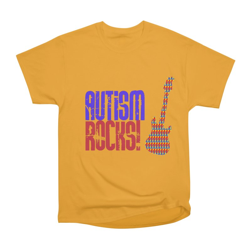Autism Rocks Men's Heavyweight T-Shirt by Coachella Valley Autism Society of America