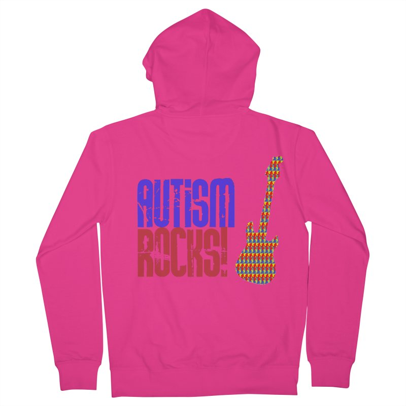 Autism Rocks Men's French Terry Zip-Up Hoody by Coachella Valley Autism Society of America