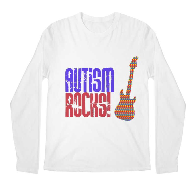 Autism Rocks Men's Regular Longsleeve T-Shirt by Coachella Valley Autism Society of America