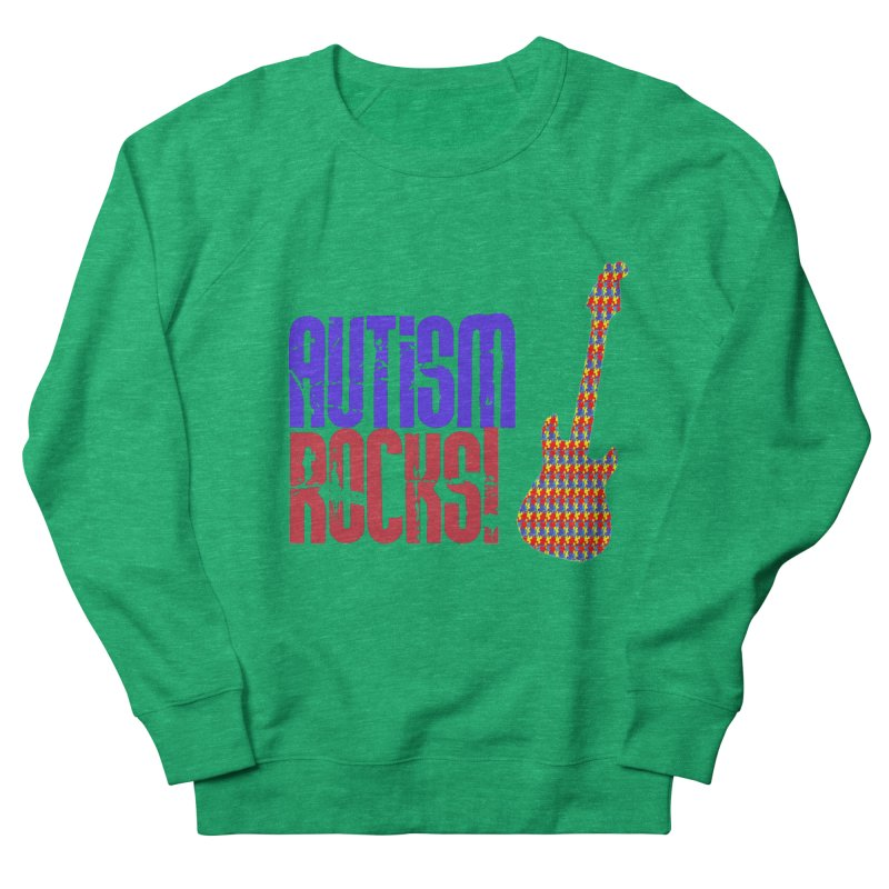 Autism Rocks Men's French Terry Sweatshirt by Coachella Valley Autism Society of America
