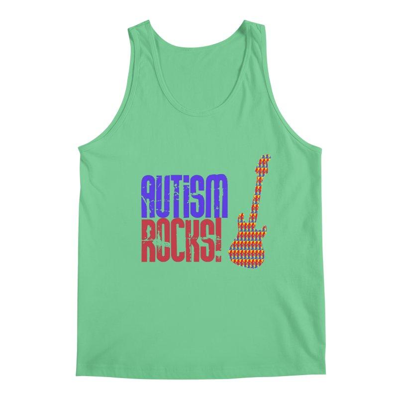 Autism Rocks Men's Regular Tank by Coachella Valley Autism Society of America
