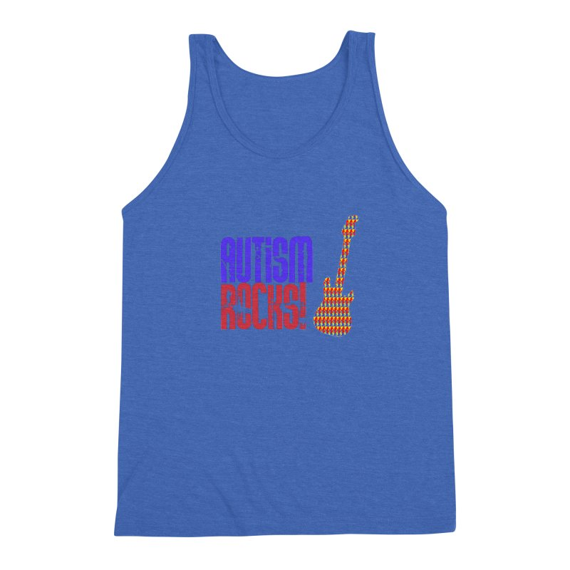Autism Rocks Men's Triblend Tank by Coachella Valley Autism Society of America