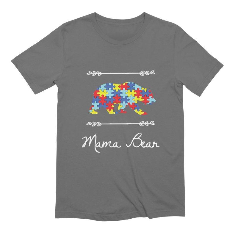 Mama Bear Men's T-Shirt by Coachella Valley Autism Society of America