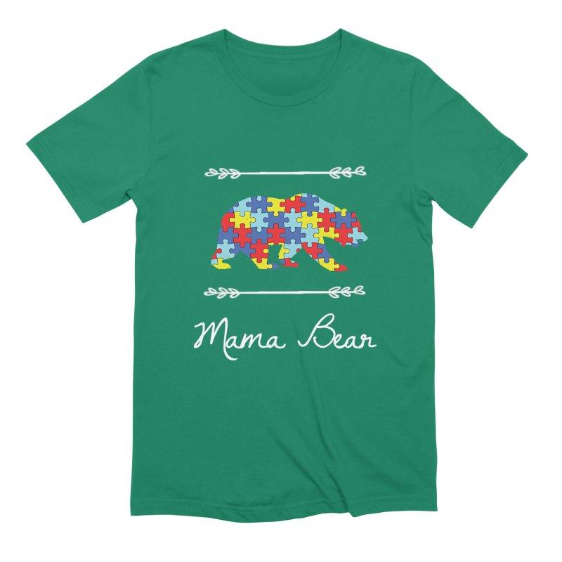 Mama Bear Men's Extra Soft T-Shirt by Coachella Valley Autism Society of America