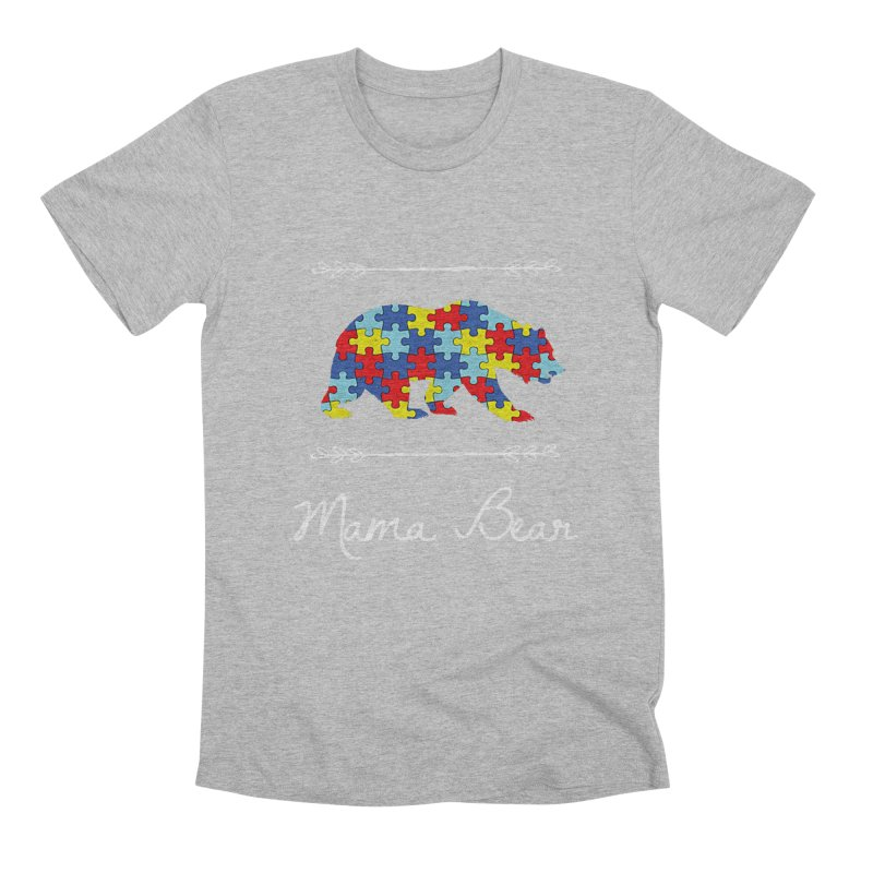 Mama Bear Men's Premium T-Shirt by Coachella Valley Autism Society of America