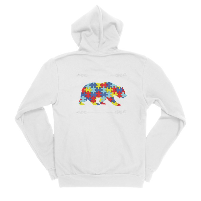 Mama Bear Men's Sponge Fleece Zip-Up Hoody by Coachella Valley Autism Society of America
