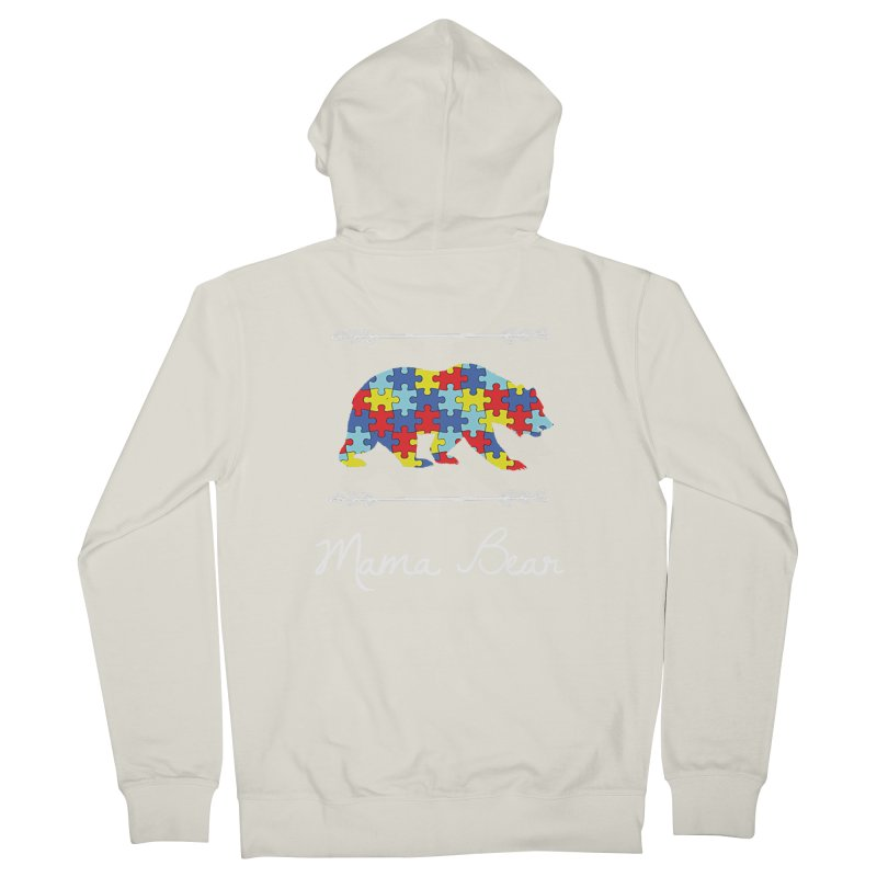 Mama Bear Men's French Terry Zip-Up Hoody by Coachella Valley Autism Society of America