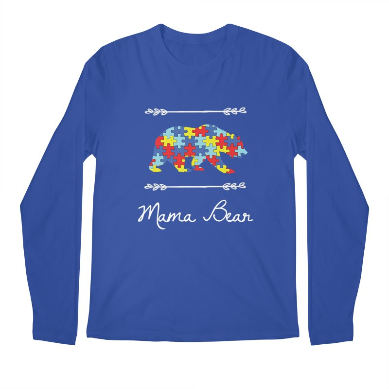 Mama Bear Men's Regular Longsleeve T-Shirt by Coachella Valley Autism Society of America