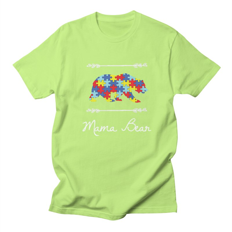 Mama Bear Men's Regular T-Shirt by Coachella Valley Autism Society of America