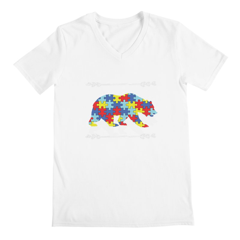 Mama Bear Men's V-Neck by Coachella Valley Autism Society of America