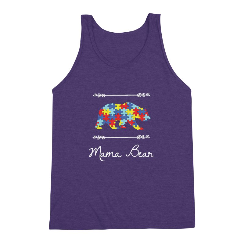 Mama Bear Men's Triblend Tank by Coachella Valley Autism Society of America