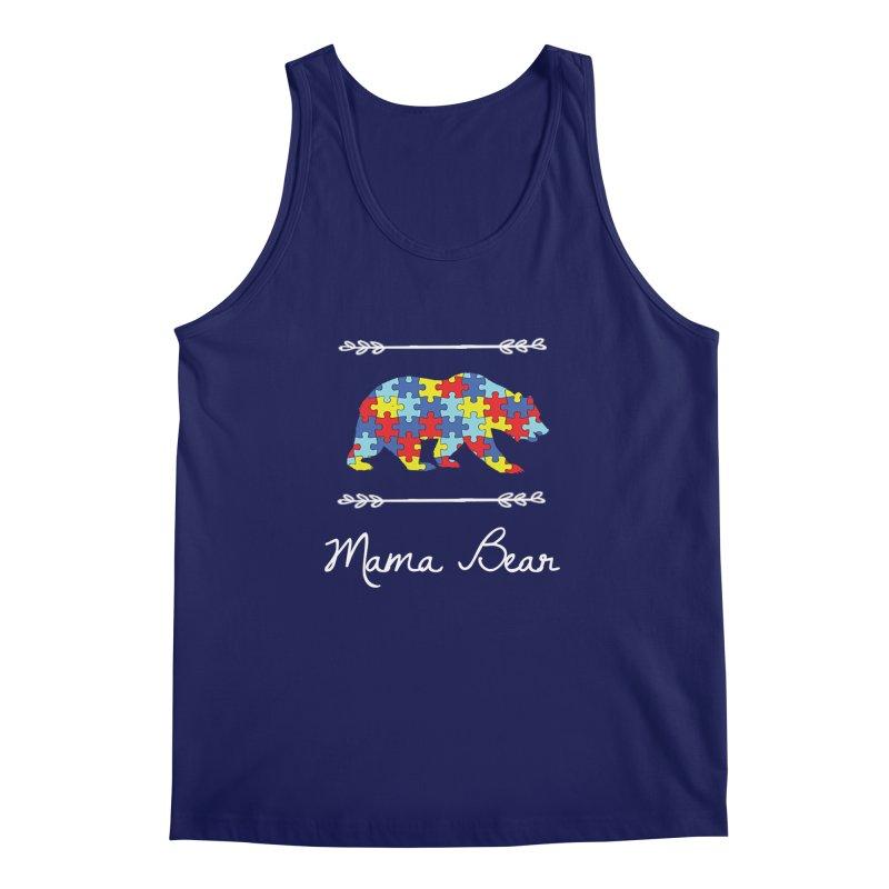 Mama Bear Men's Regular Tank by Coachella Valley Autism Society of America