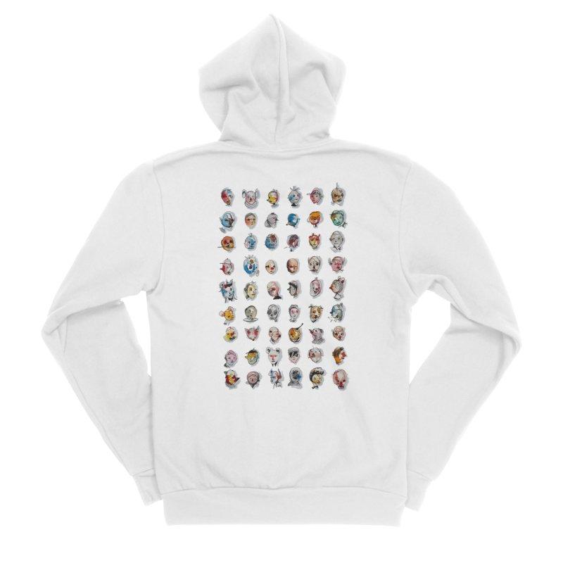 CVD in Women's Sponge Fleece Zip-Up Hoody White by cvds's Artist Shop