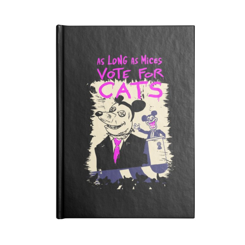 Wise mouse Accessories Lined Journal Notebook by Chemise et Cul