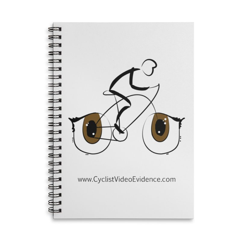 Cyclist Video Evidence in Lined Spiral Notebook by Cyclist Video Evidence's Artist Shop