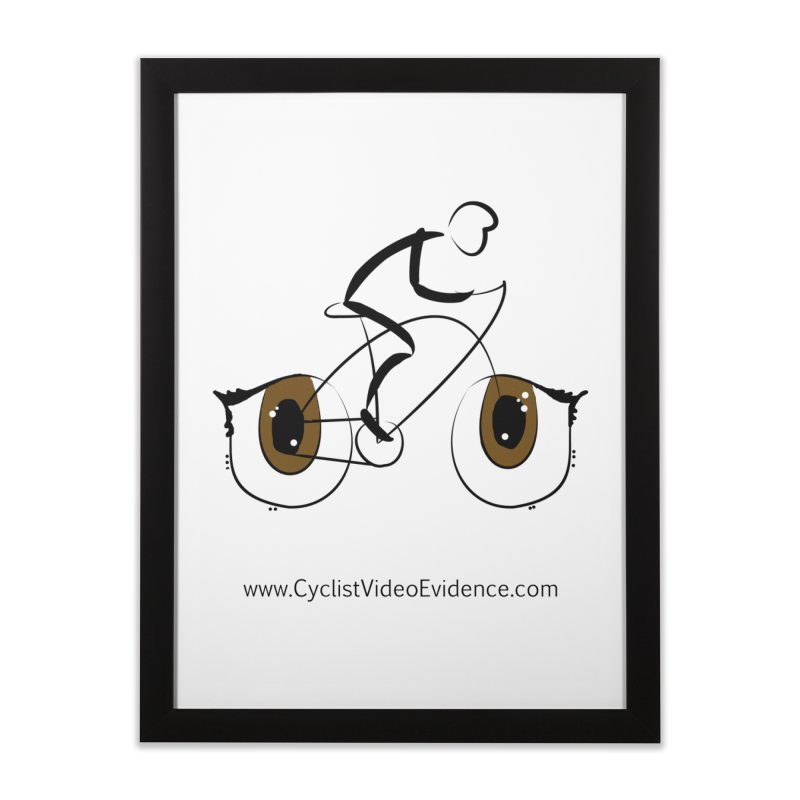 Cyclist Video Evidence Home Framed Fine Art Print by Cyclist Video Evidence's Artist Shop