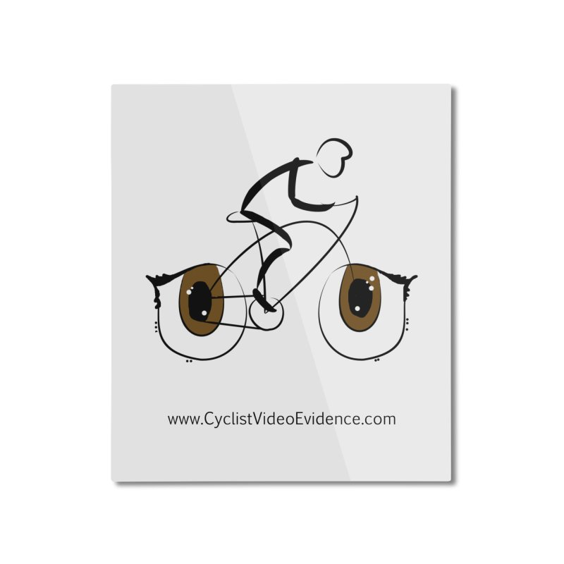 Cyclist Video Evidence Home Mounted Aluminum Print by Cyclist Video Evidence's Artist Shop