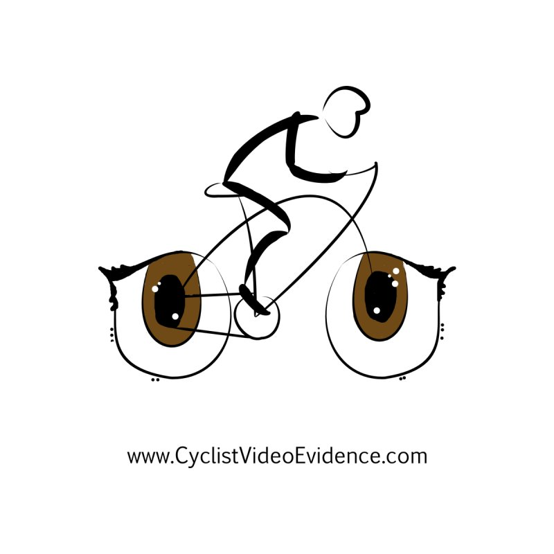 Cyclist Video Evidence Home Fine Art Print by Cyclist Video Evidence's Artist Shop
