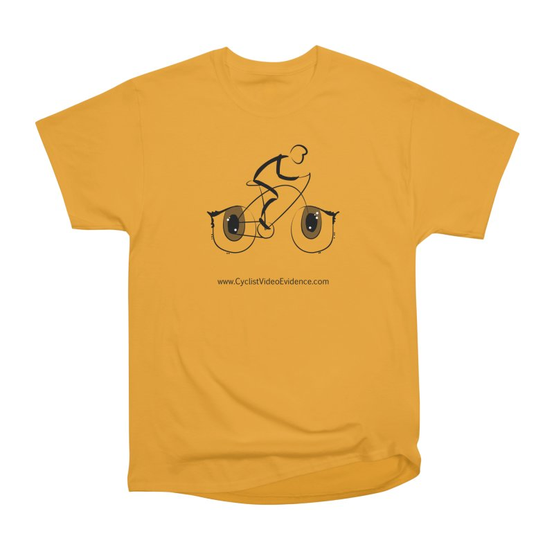 Cyclist Video Evidence Men's Heavyweight T-Shirt by Cyclist Video Evidence's Artist Shop