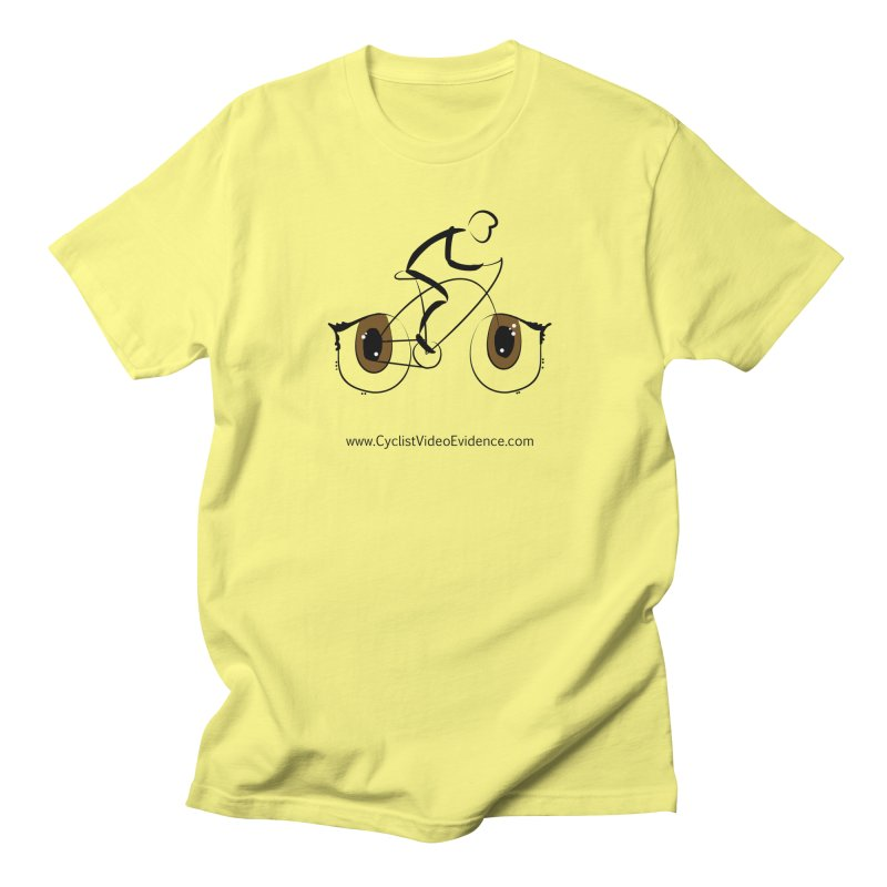 Cyclist Video Evidence in Men's T-Shirt Lemon by Cyclist Video Evidence's Artist Shop