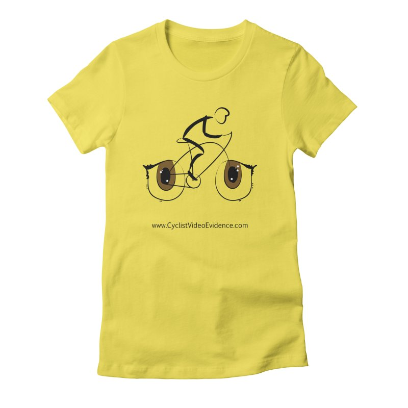 Cyclist Video Evidence Women's T-Shirt by Cyclist Video Evidence's Artist Shop