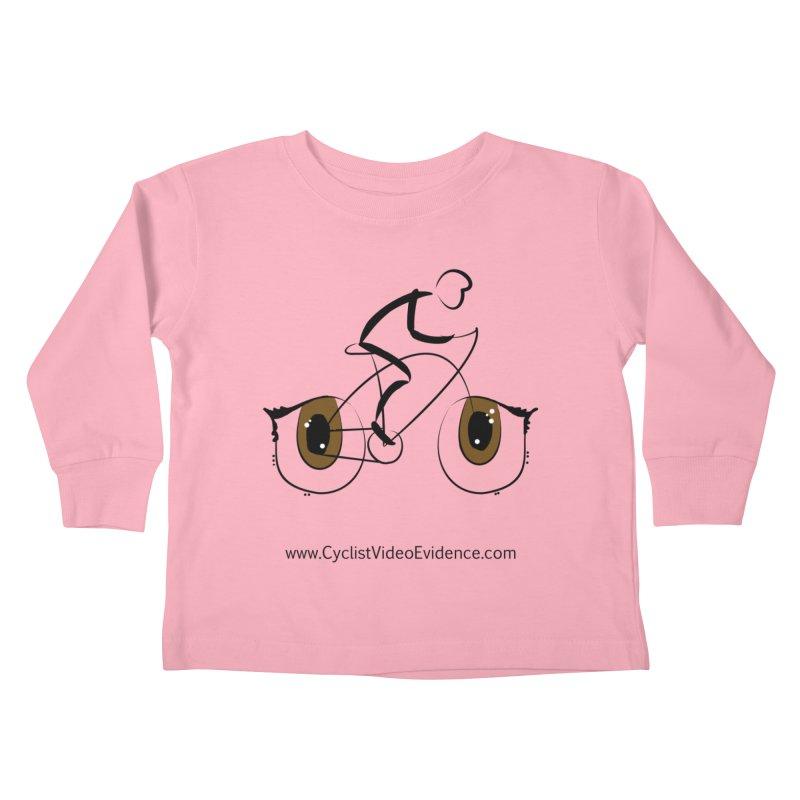 Cyclist Video Evidence Kids Toddler Longsleeve T-Shirt by Cyclist Video Evidence's Artist Shop