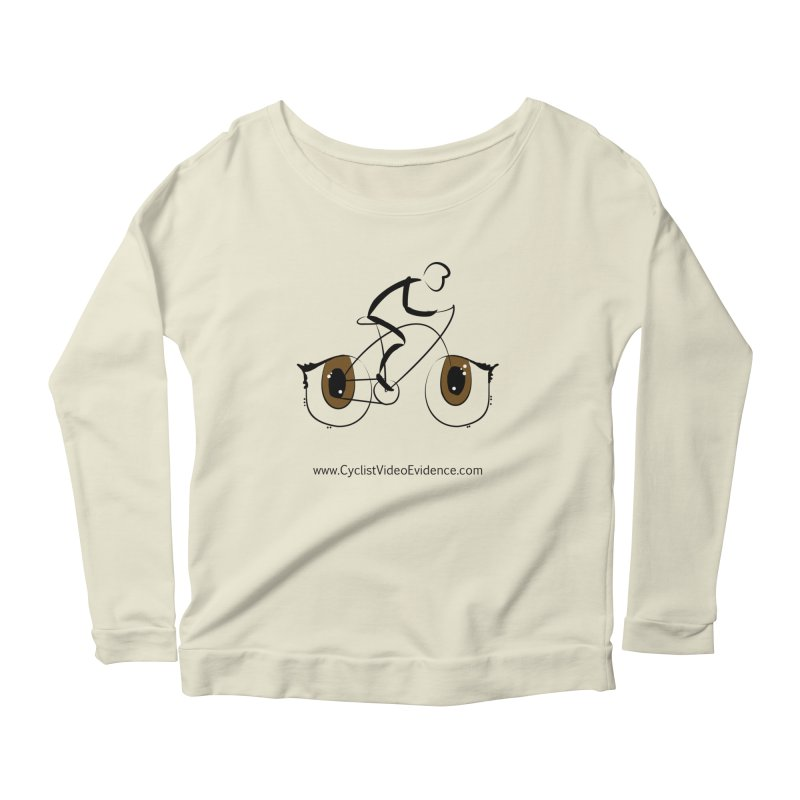 Cyclist Video Evidence Women's Scoop Neck Longsleeve T-Shirt by Cyclist Video Evidence's Artist Shop