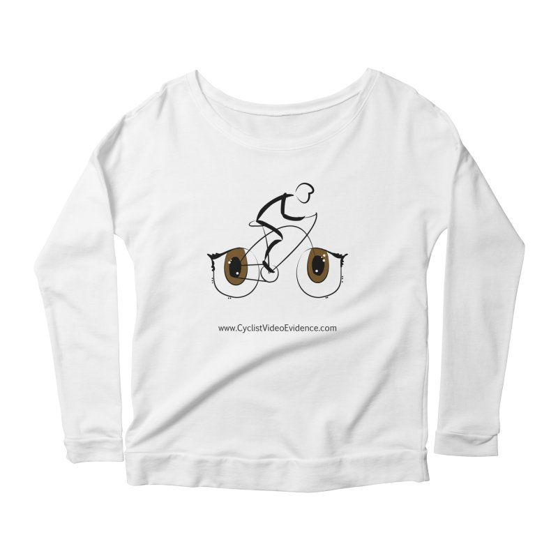 Cyclist Video Evidence Women's Scoop Neck Longsleeve T-Shirt by Cyclist Video Evidence's Artist Shop