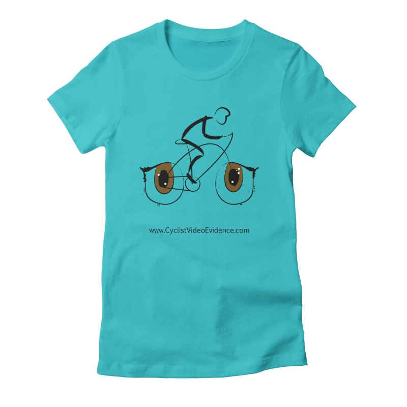 Cyclist Video Evidence Women's Fitted T-Shirt by Cyclist Video Evidence's Artist Shop