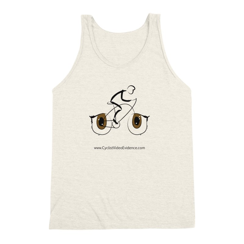 Cyclist Video Evidence Men's Triblend Tank by Cyclist Video Evidence's Artist Shop