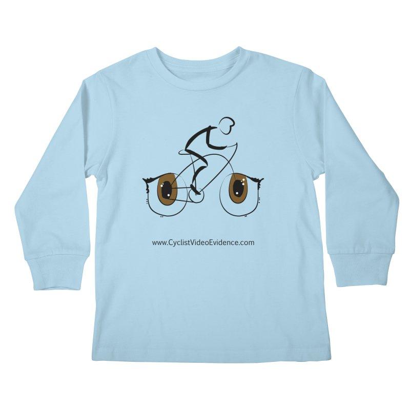 Cyclist Video Evidence Kids Longsleeve T-Shirt by Cyclist Video Evidence's Artist Shop