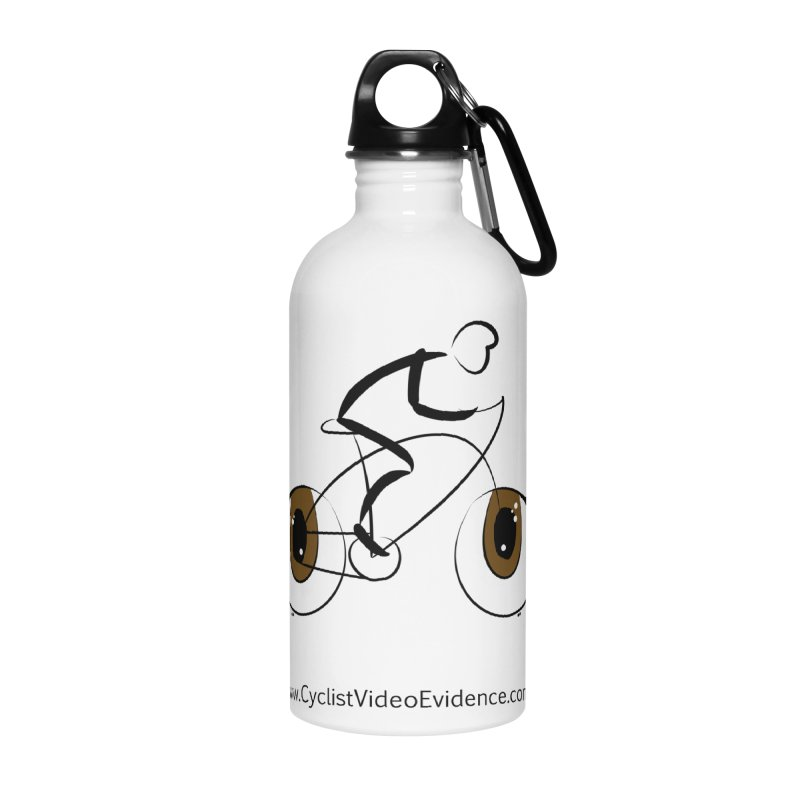 Cyclist Video Evidence Accessories Water Bottle by Cyclist Video Evidence's Artist Shop