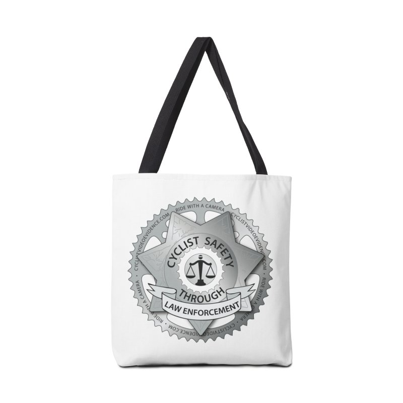Cyclist Safety Through Law Enforcement Accessories Tote Bag Bag by Cyclist Video Evidence's Artist Shop