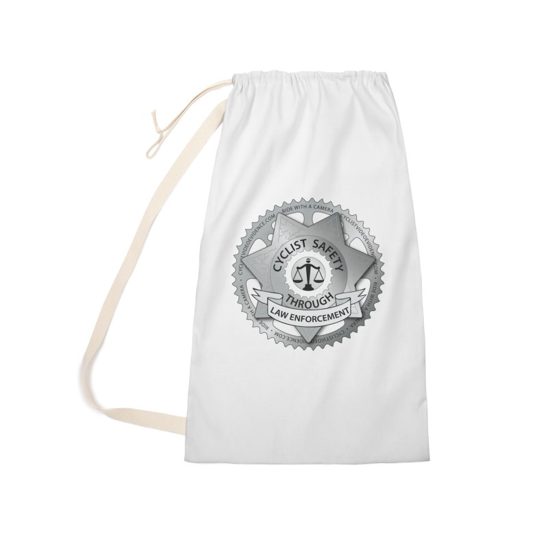 Cyclist Safety Through Law Enforcement Accessories Laundry Bag Bag by Cyclist Video Evidence's Artist Shop