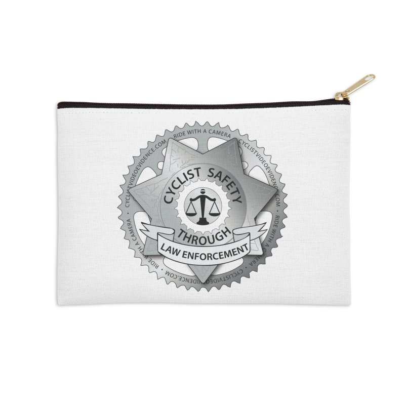 Cyclist Safety Through Law Enforcement Accessories Zip Pouch by Cyclist Video Evidence's Artist Shop