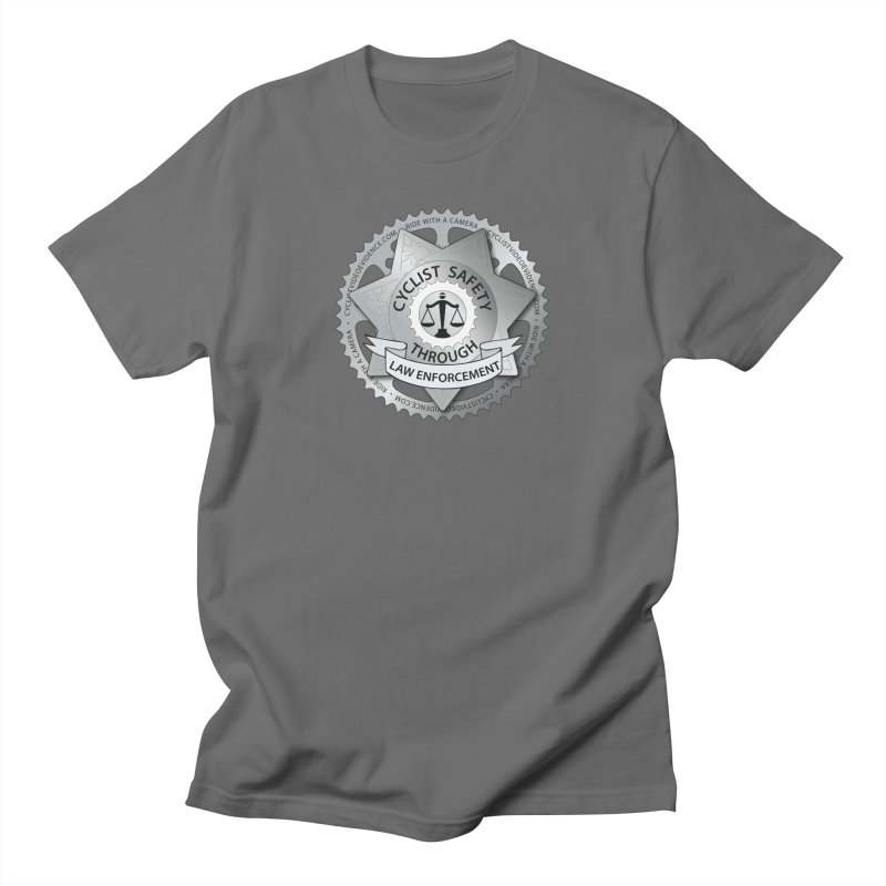 Cyclist Safety Through Law Enforcement Men's T-Shirt by Cyclist Video Evidence's Artist Shop