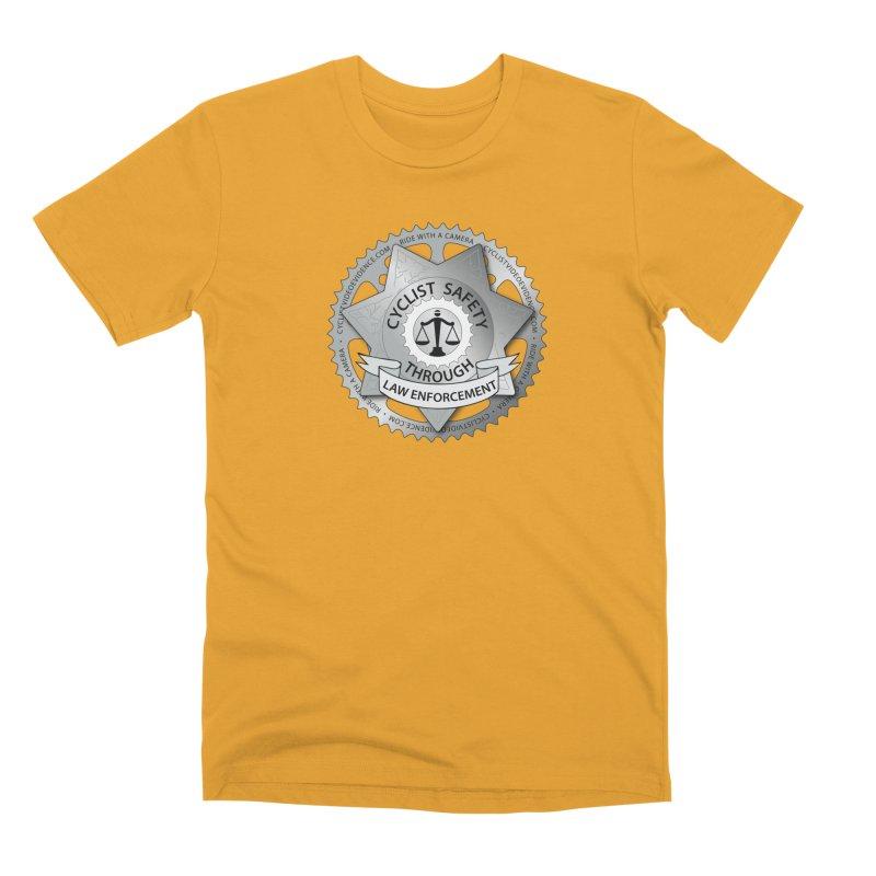 Cyclist Safety Through Law Enforcement Men's Premium T-Shirt by Cyclist Video Evidence's Artist Shop