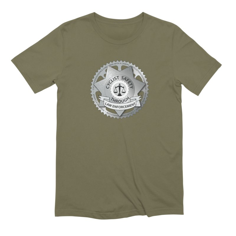 Cyclist Safety Through Law Enforcement Men's Extra Soft T-Shirt by Cyclist Video Evidence's Artist Shop
