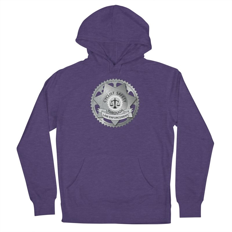 Cyclist Safety Through Law Enforcement Men's French Terry Pullover Hoody by Cyclist Video Evidence's Artist Shop