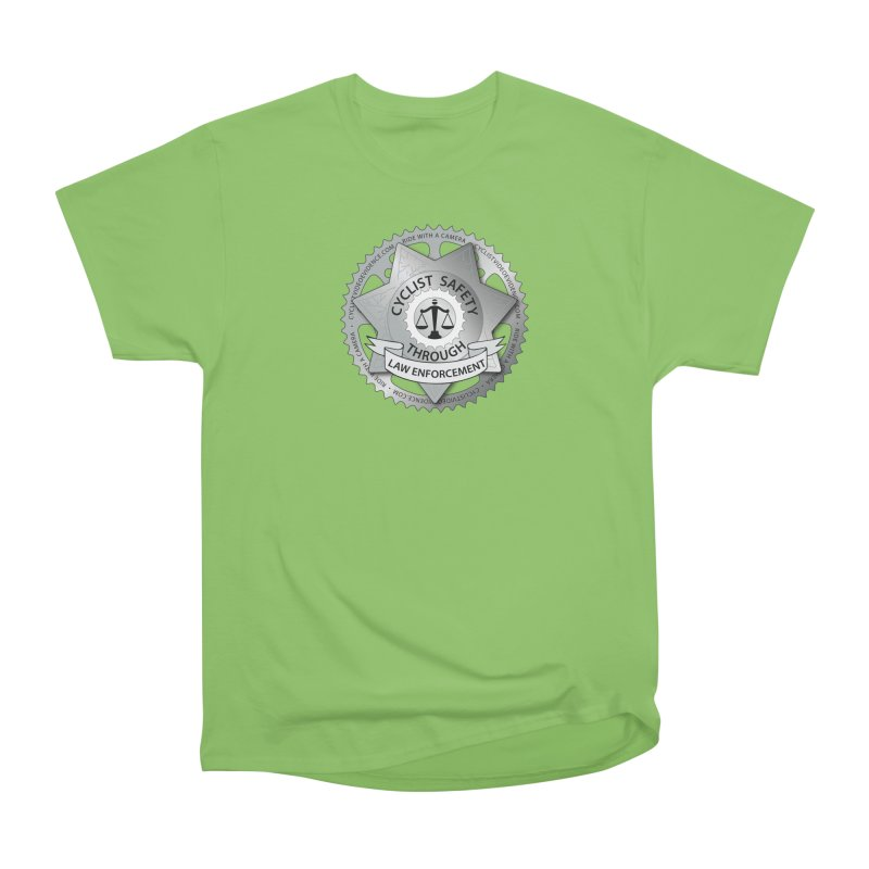 Cyclist Safety Through Law Enforcement Men's Heavyweight T-Shirt by Cyclist Video Evidence's Artist Shop