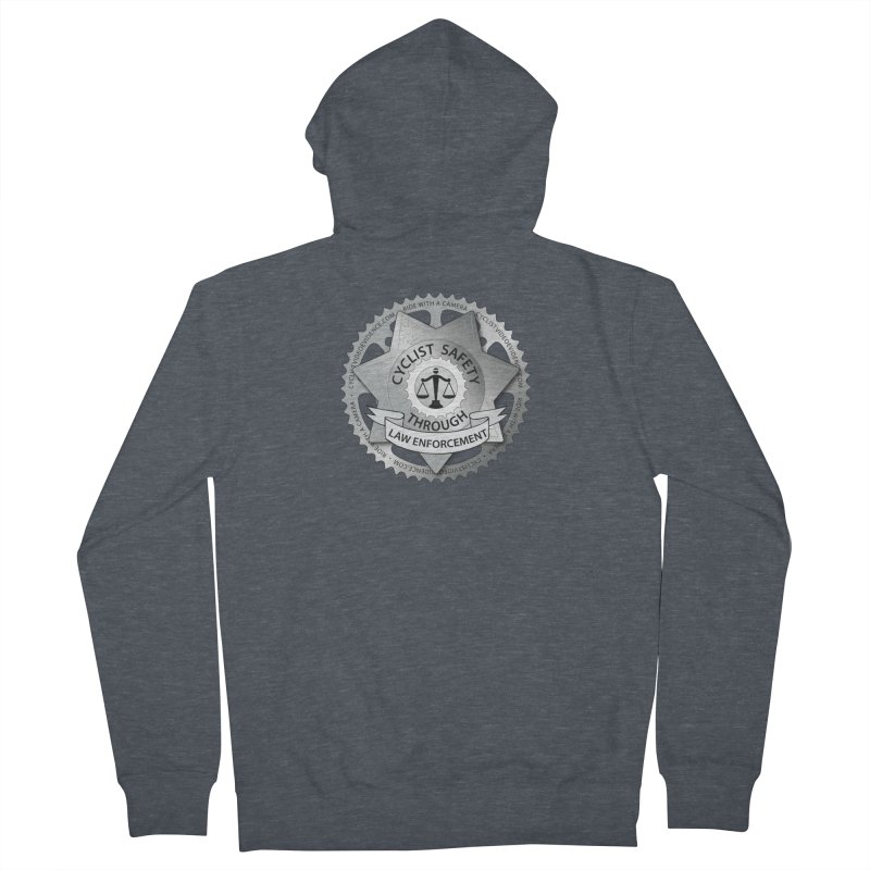Cyclist Safety Through Law Enforcement Women's French Terry Zip-Up Hoody by Cyclist Video Evidence's Artist Shop