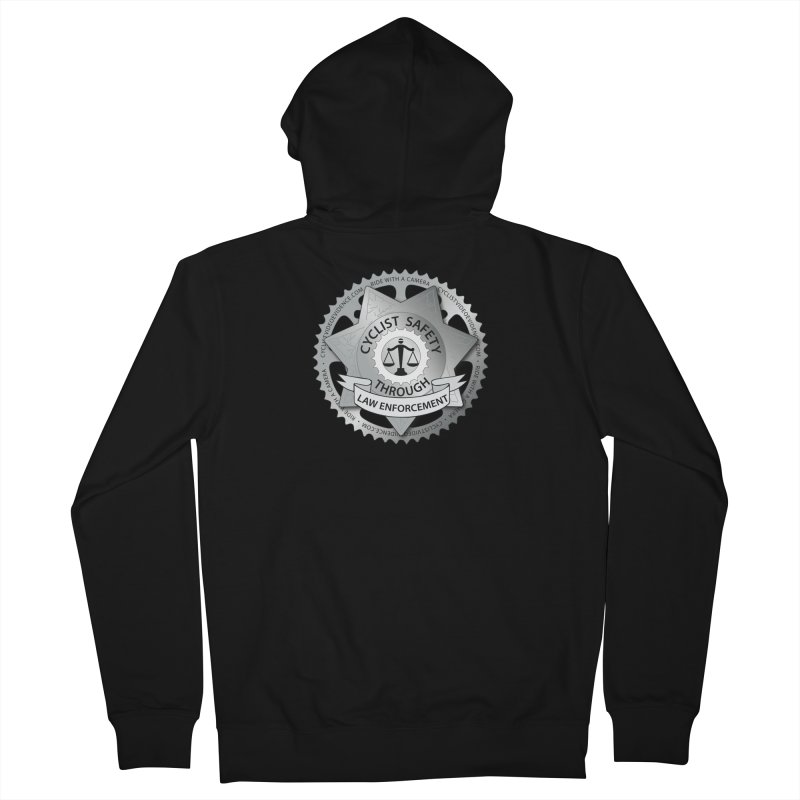Cyclist Safety Through Law Enforcement Men's French Terry Zip-Up Hoody by Cyclist Video Evidence's Artist Shop