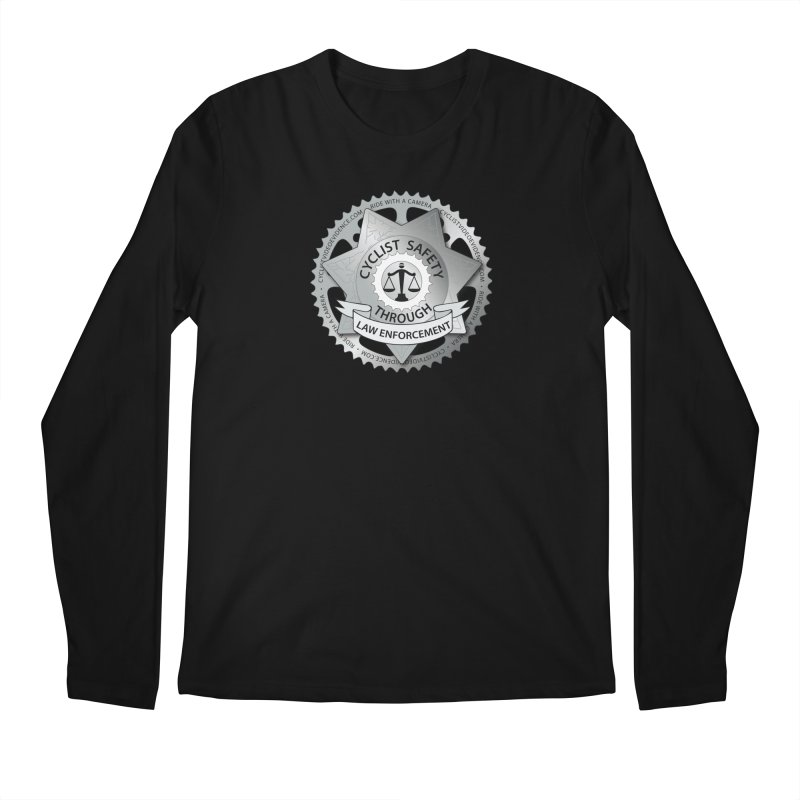 Cyclist Safety Through Law Enforcement Men's Regular Longsleeve T-Shirt by Cyclist Video Evidence's Artist Shop